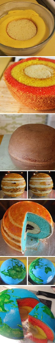 These cakes absolutely rock! Would you bake these planets for your sons?