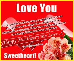 Sweet message to boyfriend on monthsary