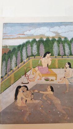 iCanvas Girls Bathing, Pahari Style, Kangra School, Himachel Pradesh, century Gallery Wrapped Canvas Art Print by Indian School Vintage India, Art Optical, Music Drawings, Lesbian Art, Bath Girls, Hindu Art, Art Moderne, Indian Paintings, Museum