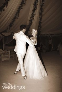 Erin Fetherston dancing on her wedding day. So pretty!