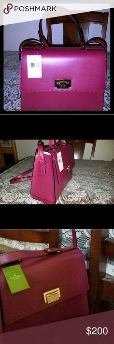 NEW Kate spade Harwood Place Doris Brand new , red plum satchel/shoulder bag kate spade Bags Shoulder Bags