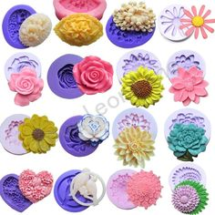 16set Silicone Mould for Polymer Clay Candy Chocolat Fondant Cake Sugarcraft  #New