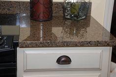 white cabinets granite