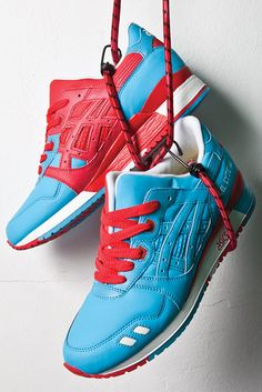 """BAIT x ASICS 2012 """"Rings"""" Sneaker Pack: Although the shop isn't slated to open until June the forthcoming California-based, Marathon, Men's Shoes, Shoes Sneakers, Sneakers Fashion, Fashion Shoes, Streetwear, Baskets, Asics Gel Lyte Iii, Adidas Shoes Outlet"""
