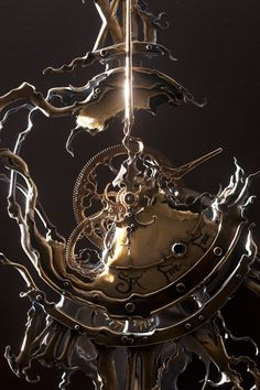 Twisted Twelve detail by ericfreitas on DeviantArt Steampunk Crafts, Steampunk Design, Steampunk Gears, Photomontage, Old Clock Tattoo, Unusual Clocks, Clock Art, Art Of Love, Old Clocks