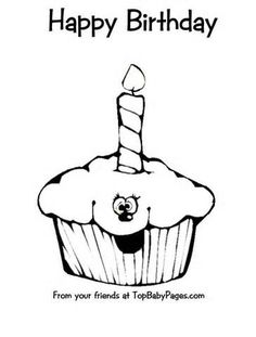 FREE Birthday Party Coloring Pages From Top Baby