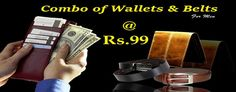 Combo Of Wallet And Belts at Ordervenue Online Coupons, Discount Coupons, Coupon Codes, Belts, Wallet, Style, Fashion, Pocket Wallet, Moda