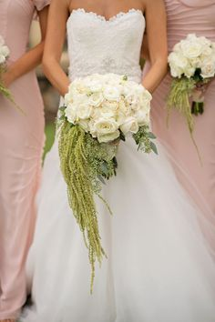 Elegant Pink and White Florida Wedding from Kristen Weaver Photography - bridal bouquet