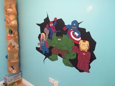 Lego superheroes including Hulk, Spider-Man, Captain America, Thor and Ironman by World of Wall Craft UK.