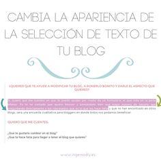 Cambia la apariencia de la  selección de texto de tu blog