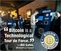 A bitcoin ATM???  Bitcoin is really hear to stay. It's about time to learn what it really is all about. You can do so here: http://danswealthtips.com/bitcoin-wealth-alliance-scam-review
