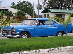 Classic car in Ciego de Ávila, Cuba. Photo taken by Brian Kaylor during a trip for the COEBAC's 40th anniversary celebration at Iglesia Bautista Enmanuel (Emmanuel Baptist Church).