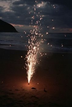 Beach fireworks.