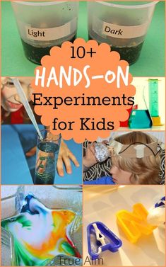 10+ Hands-on Science Experiments for Kids to Do This Summer! | True Aim. With these 5 science experiments, kids will learn by doing. These hands-on STEM activities really keep kids engaged and motivated to explore concepts in botany, chemistry, and more. There is even some art and reading mixed in with these science experiments. Add these STEM activities to your list of summer activities for kids! At Home Science Experiments, Science Activities For Kids, Science Curriculum, Preschool Science, Science Fair, Science Lessons, Teaching Science, Science Projects, Stem Activities