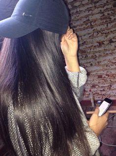 Hair on fleek Everyday Hairstyles, Cute Hairstyles, Straight Hairstyles, Long Black Hair, Dark Hair, Jolie Photo, Hair Looks, New Hair, Hair Inspiration