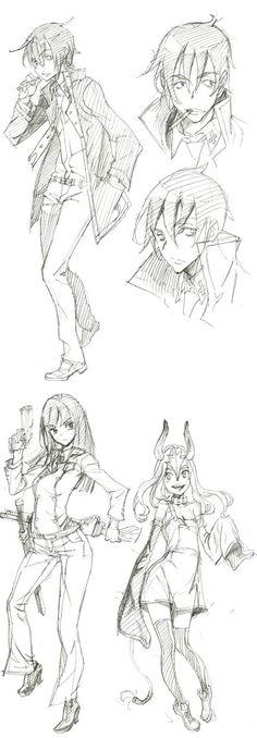 고지라군의 만화공방 Sketch Manga, Anime Drawings Sketches, Manga Drawing, Figure Drawing, Manga Art, Drawing Reference Poses, Drawing Poses, Art Reference, Character Reference