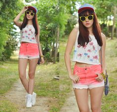 my favorite outfit when strolling ^_^ Choies Wedge Sneakers