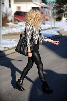 Still looking for the perfect pair of leather leggings.