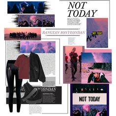 A fashion look from February 2017 featuring MANGO t-shirts, Alexander Wang jackets and Boohoo leggings. Browse and shop related looks. Kpop Fashion Outfits, New Outfits, Cute Outfits, Selena, Nicki Minaj Outfits, Bts Not Today, Bts Clothing, Unique Fashion, Women's Fashion