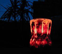 """Das """"Colaflaschen-Windlicht"""" bei Nacht,,, Designer, Lighting, Home Decor, Flasks, Night, Decoration Home, Room Decor, Lights, Home Interior Design"""