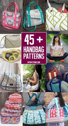 Over 45 great bag patterns to sew!                                                                                                                                                                                 More