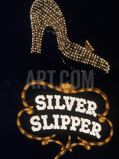 Silver Slipper Sign in Las Vegas Photographic Print by Loomis Dean at Art.com