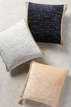 Embroidered Nadiyah pillows bring in a touch of elegance. | anthropologie.com