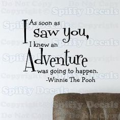 Winnie the Pooh Adventure vinyl wall quote by SpiffyDecals on Etsy