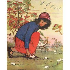 Picking Mushrooms by Muriel Dawson