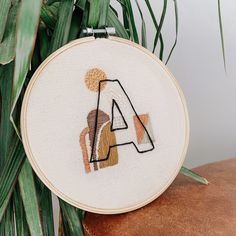 The Little Pine Company Simple Embroidery, Learn Embroidery, Modern Embroidery, Hand Embroidery Patterns, Cross Stitch Embroidery, Embroidery Letters, Abstract Embroidery, Broderie Simple, Diy Broderie