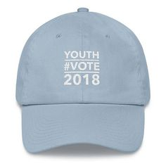 Share your enthusiasm for young voters in the 2018 mid-term elections with our light blue baseball hat. Each cap is embroidered with the Youth Vote 2018 message and is the perfect hat to wear while registering young voters, joining a march to express your opinions or