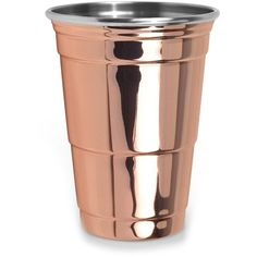 Fred & Friends Copper Party Cup ($16) ❤ liked on Polyvore featuring home, kitchen & dining, drinkware, copper cups, moscow mule copper mug, copper moscow mule and copper drinkware