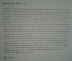 Guggenheim Museum NYC 4/2/16 PETER FISCHLI & DAVID WEISS. SUDDENLY THIS OVERVIEW.