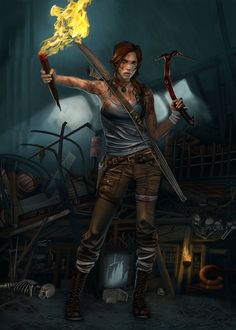 lara croft digital painting made for tomb raider reborn contest Left 4 Dead, Bioshock, Resident Evil, Tomb Raider Costume, Tomb Raider 2013, Lara Croft Cosplay, Tomb Raider Lara Croft, Rise Of The Tomb, Fanart