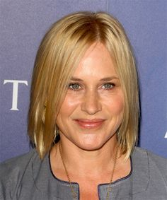 Patricia Arquette Bob Hairstyle - Medium Straight Casual - Medium Blonde