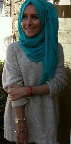 #Dina #Tokio rockin' the Turqouise #hijab #hijabi #hijabista #style #fashion