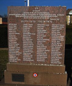"""The Names of the Numbers: On December 11, 2005 a memorial for the 86 Jewish men and women who were selected and killed for the personal collection and permanent """"skeleton exhibition"""" of nazi doctor August Hirt was erected on the Jewish Cemetery in Strasbourg-Cronenbourg."""