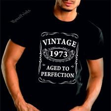 VINTAGE 1973 AGED TO PERFECTION T-shirt 40th BIRTHDAY Present Gift 40 years old
