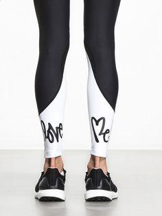 Centrum Legging by CARBON38 X CURTIS KULIG in Black/White