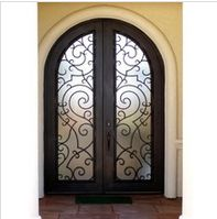 "What does wrought iron mean ? The word ""wrought means to ""to work"", therefore the term ""wrought iron"" means ""worked iron"". - Spring Household Items for Sale Castle Doors, Bubble Paper, Wrought Iron Doors, Iron Work, Windows And Doors, Front Doors, My Dream Home, Dream Homes, House Design"