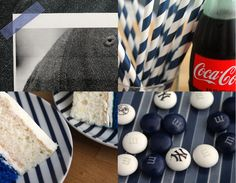 pinstripes as a theme for a baseball birthday party