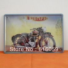 [ Do it ]TRIUMPH Motorcycle Tin Sign Bar PUB Club Vintage Metal Iron paintings decoration 20*30 CM A-104 Free shipping(China (Mainland)) Triumph Motorcycles, Tin Signs, Online Gallery, Vintage Metal, Iron, China, Paintings, Club, Baseball Cards