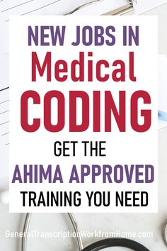 Medical Coding Training to Prepare for the AHIMA Medical Coding Certification and Get Medical Coding Jobs from Home Medical Coding Certification, Medical Coding Training, Transcription Jobs From Home, Medical Coder, Medical Billing And Coding, Medical Careers, Mentor Program, Job Help, Legitimate Work From Home