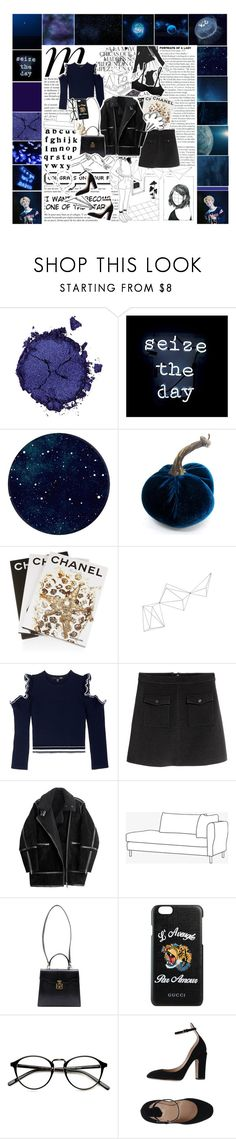 """""""galaxy"""" by bstfashion ❤ liked on Polyvore featuring Pat McGrath, Oliver Gal Artist Co., Whiteley, Assouline Publishing, Jayson Home, Comme Moi, H&M, rhona, Gucci and Valentino"""