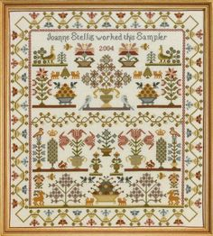 Historical Sampler Co. Pot Sampler Cross Stitch by Historical Sampler Co. Ltd, http://www.amazon.co.uk/dp/B00H7EJBK2/ref=cm_sw_r_pi_dp_jGq.sb1F3WR5B Like this one - could I edit it?
