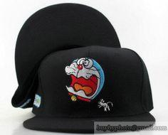 Doraemon Snapback Hats Flat Hat Adjustable Caps Black 5