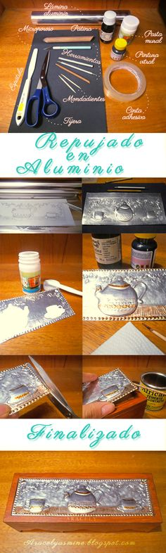 Un pequeño #tutorial de como repujar en aluminio http://goo.gl/VdM51A