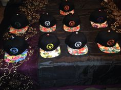 Team Tatted Floral Hats