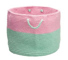 pink and mint storage basket Incy Interiors