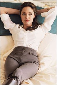 Angelina Jolie - Horse riding apparel
